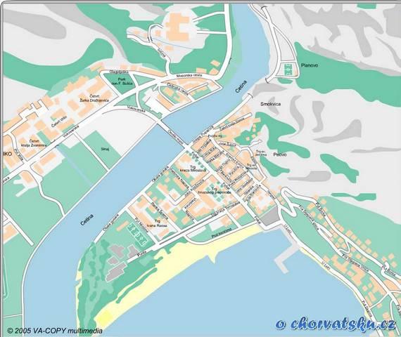 Omiš - plán - mapa