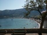 Pláž v Bašce na ostrově Krk