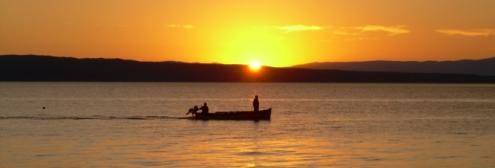 Západ slunce nad Krkem
